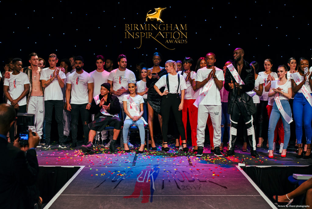 UK Model 2017 winners and contestant at the Birmingham Inspiration Awards - Picture by Choco photography