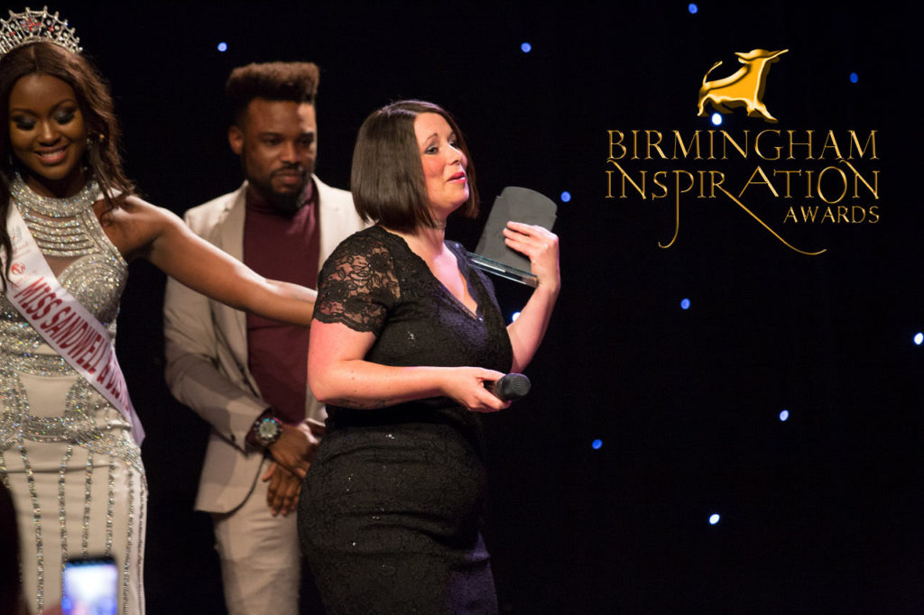 kelly-elliman wins at Birmingham Inspiration Awards