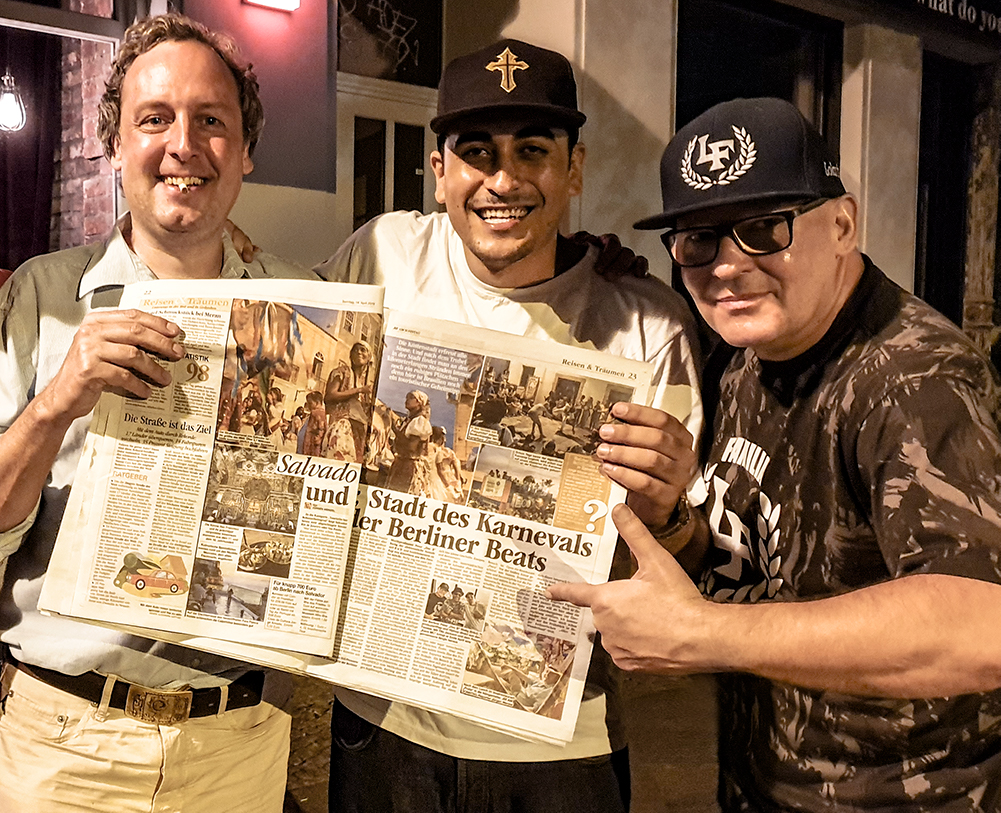 Kaos Mc and Peter Doc B highlight their article in BZ one of Germany's biggest Newspapers