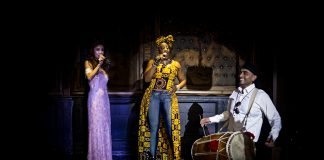 Chinese Opera star Jane Maria with Reggae Legend Toyin Adekale and Bhangra Legend Tubsy Dholki Walla